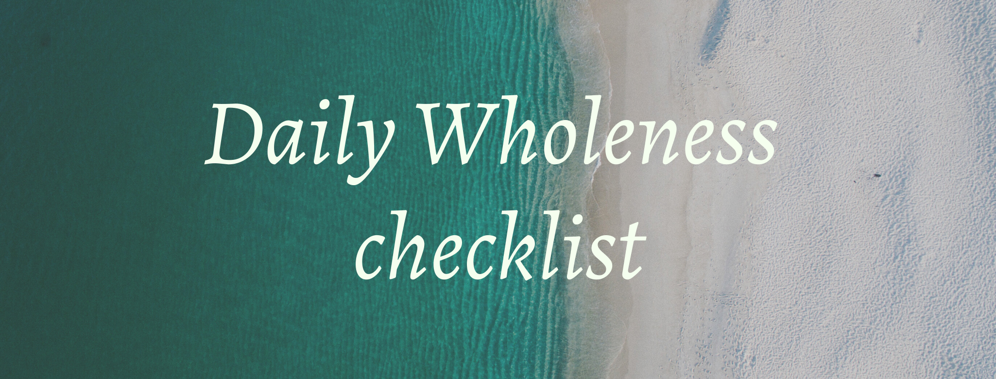 Daily Wholeness Checklist